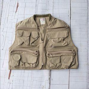 Vintage Orvis fly fishing zip up vest size medium